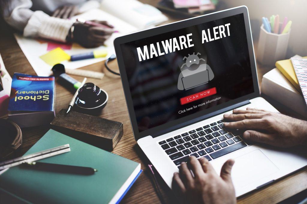 Virus alert pop-up