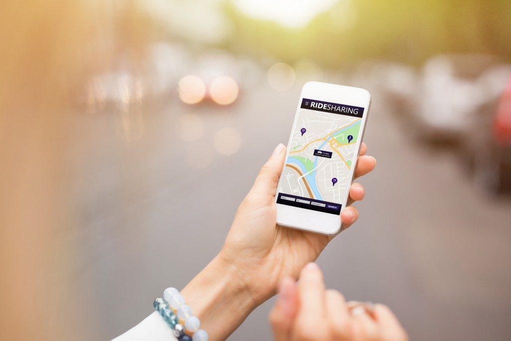 An iphone being used for directions