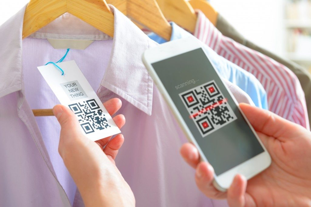 QR scanner on smartphone for purchases